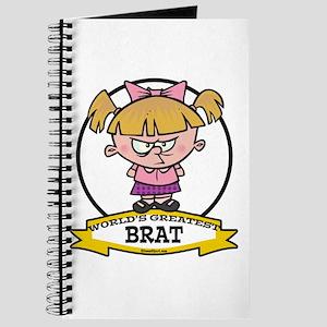 WORLDS GREATEST BRAT GIRL Journal
