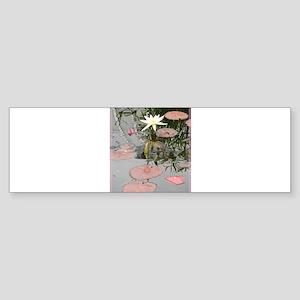 Waterlily, photo, art, Sticker (Bumper)