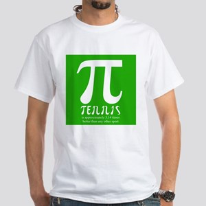 Tennis Pi White T-Shirt