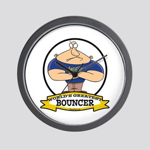 WORLDS GREATEST BOUNCER Wall Clock