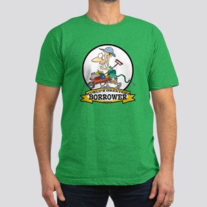 WORLDS GREATEST BORROWER MEN Men's Fitted T-Shirt