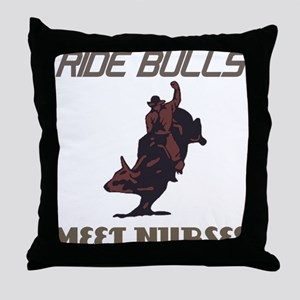 Meet Nurses Throw Pillow