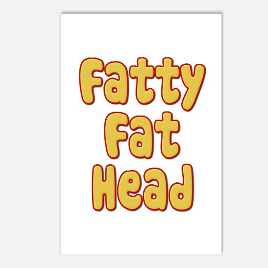 Fatty Fat Head Postcards (Package of 8)
