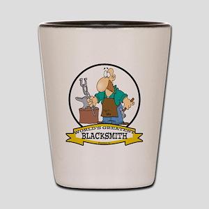 WORLDS GREATEST BLACKSMITH Shot Glass