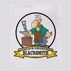 WORLDS GREATEST BLACKSMITH Throw Blanket