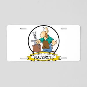 WORLDS GREATEST BLACKSMITH Aluminum License Plate