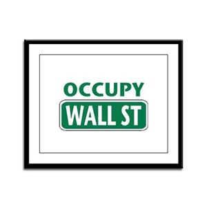 Occupy Wall Street Framed Panel Print