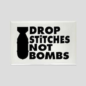 Drop Stitches Rectangle Magnet