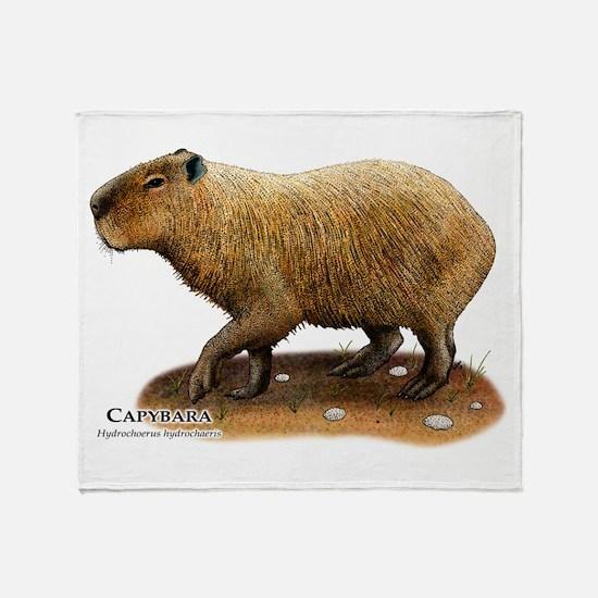 Capybara Throw Blanket