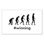 Winning Evolution Sticker (Rectangle 10 pk)