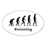 Winning Evolution Sticker (Oval 10 pk)