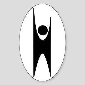 Happy Human Humanist Sticker (Oval)