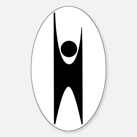 Happy Human Humanist Sticker (Oval)