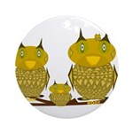 Family of Owls Ornament (Round)