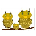 Family of Owls Postcards (Package of 8)