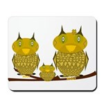 Family of Owls Mousepad