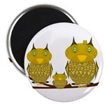 Family of Owls Magnet