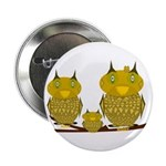 "Family of Owls 2.25"" Button"