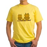 Family of Owls Yellow T-Shirt