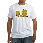 Family of Owls Fitted T-Shirt