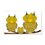 Family of Owls Car Magnet 20 x 12