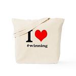 I (heart) winning Tote Bag