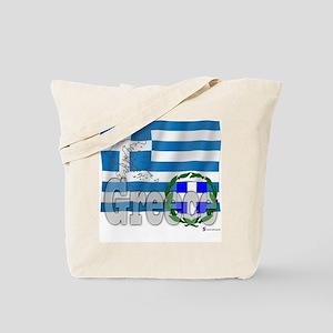 Silky Flag of Greece Tote Bag
