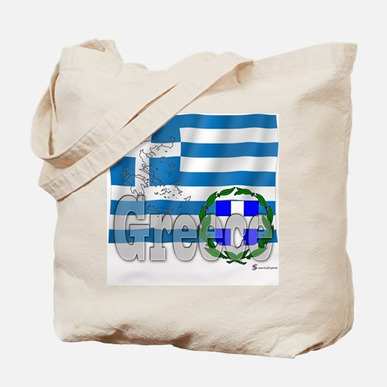 Silky Flag of Greece Tote Bag