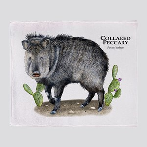 Collared Peccary Throw Blanket