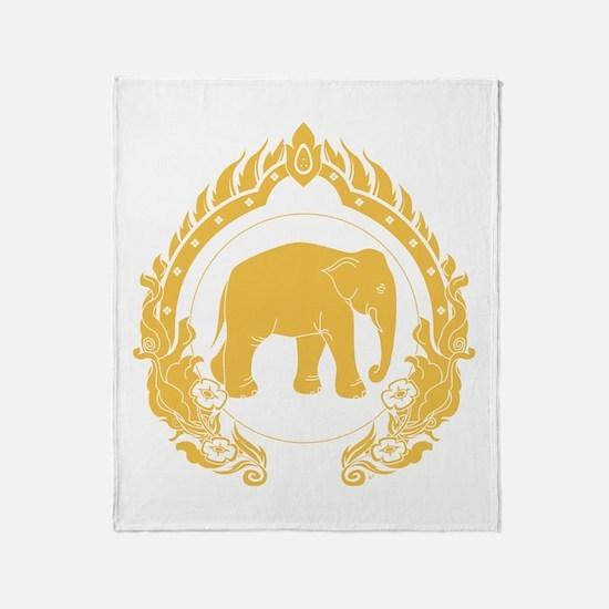 Thai Elephant Throw Blanket