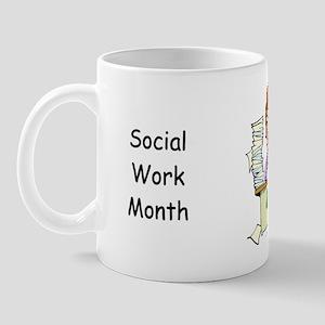 Social Work Month Desk Small Mug