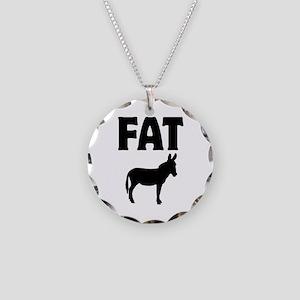 Fat Ass (Donkey) Necklace Circle Charm