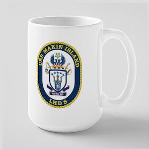 LHD 8 USS Makin Island Large Mug