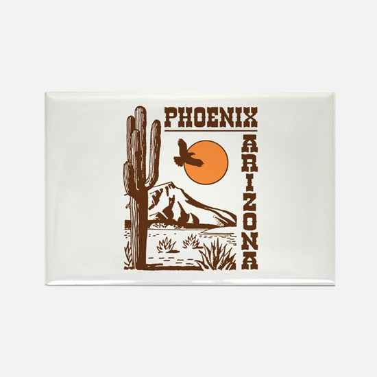 Phoenix Arizona Rectangle Magnet