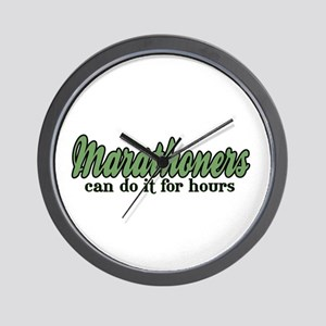 Marathoners Can Do It for Hours Wall Clock