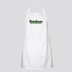 Marathoners Can Do It for Hours BBQ Apron