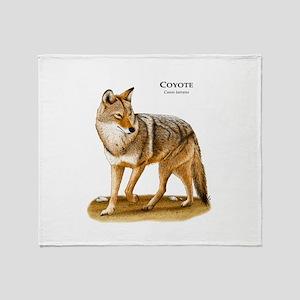 Coyote Throw Blanket