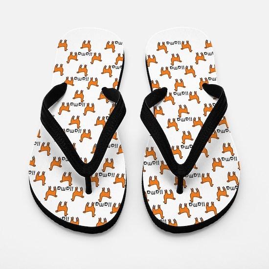 Llama Mania Flip Flops