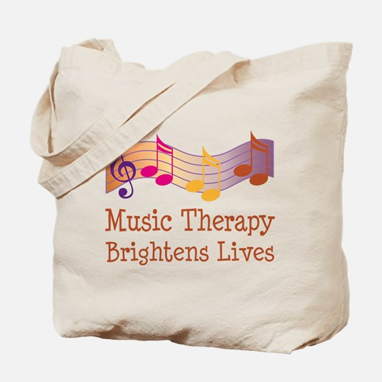 Music Therapy Quote Tote Bag