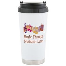 Music Therapy Quote Stainless Steel Travel Mug