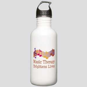 Music Therapy Quote Stainless Water Bottle 1.0L