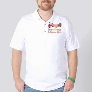 Music Therapy Quote Golf Shirt