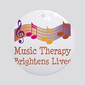 Music Therapy Quote Ornament (Round)