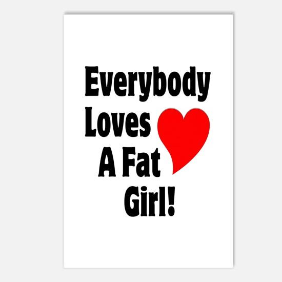 Everybody Loves A Fat Girl Postcards (Package of 8