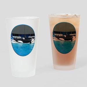Helaine's Orca (Killer Whale) Drinking Glass