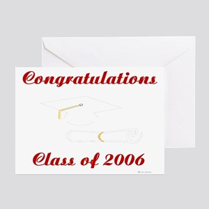 Congrats/Class of 2006 (2) Greeting Cards (Package