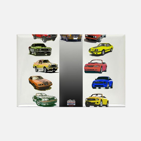 Mustang Gifts Rectangle Magnet