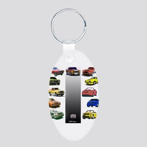 Mustang Gifts Aluminum Oval Keychain