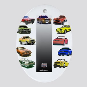 Mustang Gifts Ornament (Oval)