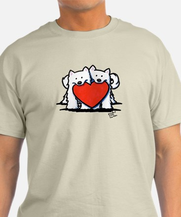 Japanese Spitz Heart Duo T-Shirt